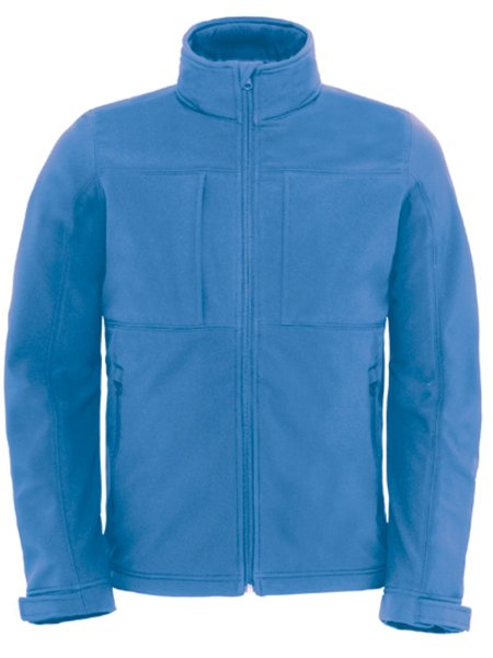B&C Hooded Softhell Men Azure Blue