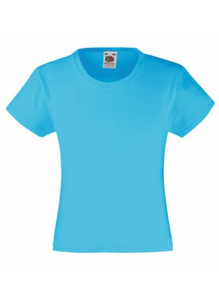 T-Shirt Girl F288K Azure Blue