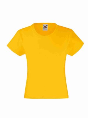 Fruit of the Loom T-Shirt Girl F288K mit Bestickung