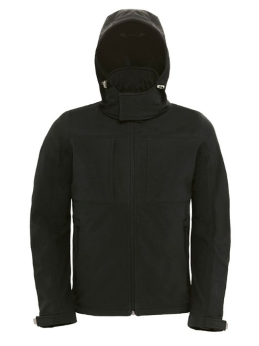 B&C Hooded Softhell Men Black