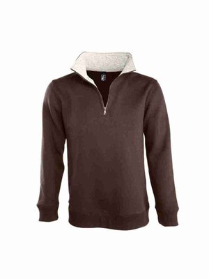 Sol`s Men Sweat Shirt Scott 1/4 Zip L312 mit Bestickung