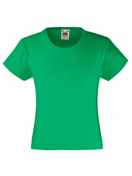 T-Shirt Girl F288K Kelly Green