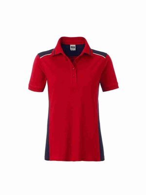 James & Nicholson Ladies' Workwear Polo JN857 mit Bestickung