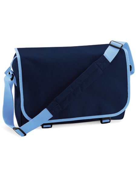 BagBase Reportertasche BG21 French Navy Sky Blue