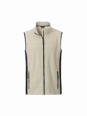 James & Nicholson Men's Workwear Fleece Vest JN856 mit Bestickung
