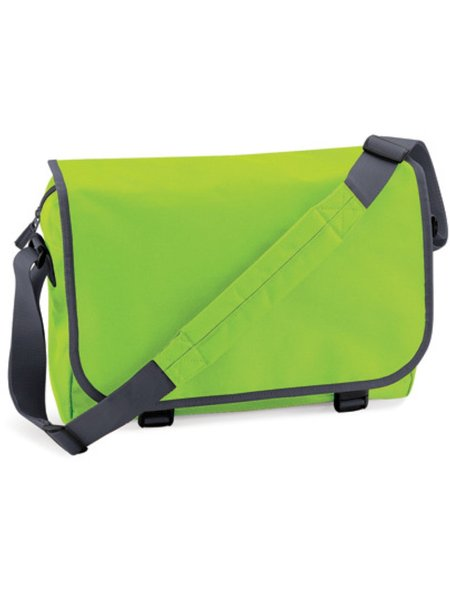 BagBase Reportertasche BG21 Lime Green Graphite Grey
