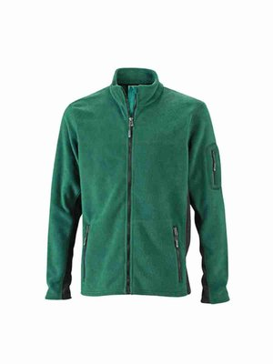James & Nicholson Men's Workwear Fleece Jacket JN842 mit Bestickung