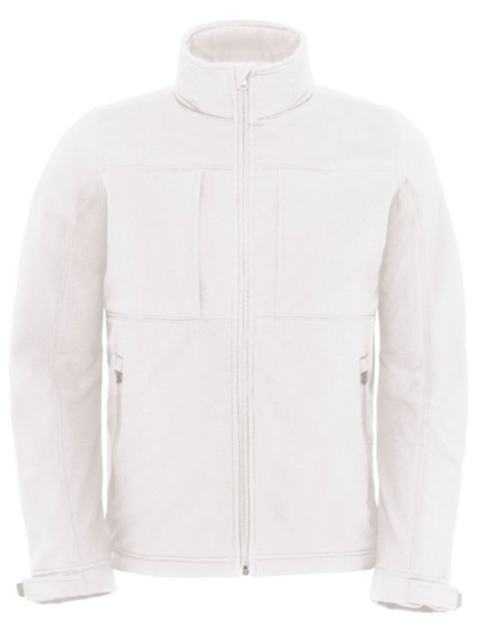 B&C Hooded Softhell Men White