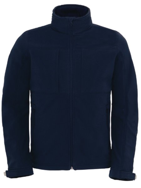 B&C Hooded Softhell Men Navy