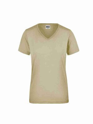 James & Nicholson Ladies' Workwear T-Shirt JN837 mit Bestickung