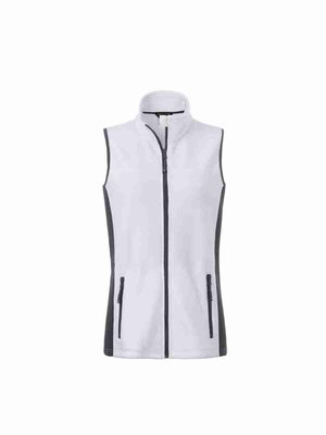 James & Nicholson Ladies' Workwear Fleece Vest JN855 mit Bestickung