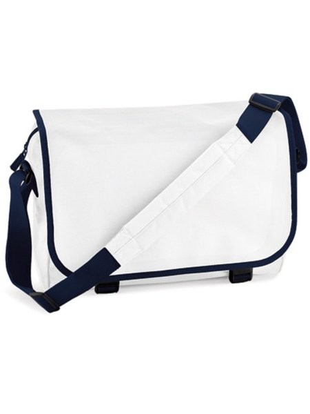 BagBase Reportertasche BG21 White French Navy