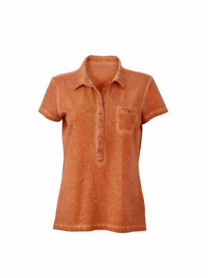 Damen Poloshirt James & Nicholson JN987 mit Stickerei