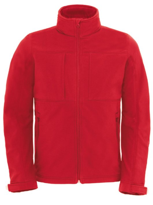 B&C Hooded Softhell Men Red