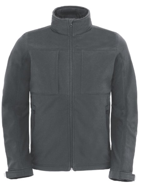 B&C Hooded Softhell Men Dark Grey